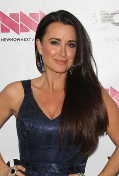Kyle Richards sleek and straight hairstyle hair-beauty