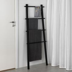 IKEA - VILTO, Towel stand, black, Easy to keep clean as the fabric can be removed and washed. Perfect in a small bathroom. Towel Rack Bathroom, Ikea Bathroom, Bathroom Colors, Bathroom Sets, Small Bathroom, Black Bathroom Decor, Bathroom Storage, Ikea Towels, Bedroom Decor