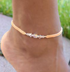 Ankle Jewelry, Rope Jewelry, Beach Jewellery, Jewlery, Bead Jewelry, Foot Bracelet, Anklet Bracelet, Friendship Bracelet Patterns, Friendship Bracelets