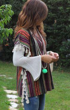colourful poncho - mytenida #Belao, #Collaboration, #Looks, #Looks_De_Otoño