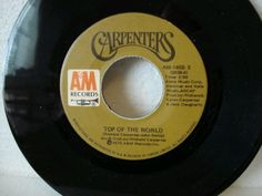 """The Carpenters' """"Top of the World."""" This was a birthday present to Mary from us. Fun Music, Music Love, Music Songs, Old Records, Vinyl Records, Romantic Music, Record Art, Music Charts, Song List"""