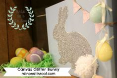 Easter Decorations ----> Glitter Bunny