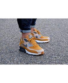 finest selection b7bbd 180ca Men s Nike Air Max 90 Premium Desert Ochre Linen Wolf Grey Dark Grey