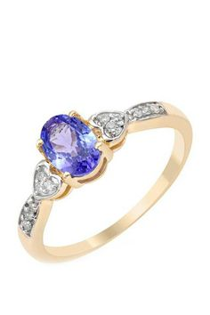 0.82 CTW Tanzanite Gold Ring | Brandsfever