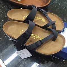 Birkenstock Mayari black matte 37 sandals Brand new. Size 37 regular. Birko-flor upper. Willing to trade. But only for things I'm on the look out for. Here's what's on my current wish list: pink pointed flats-7 or 37.5, Ray-ban (club master, black wayfarer, or Havana) sunnies, lululemon speed capris-sz 4, lululemon speed short -sz 6, any lululemon luxtreme capris sz 4 Birkenstock Shoes Sandals