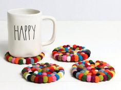 /'I/'m Not Gay I Just Really Love Rainbows/' Drink Coasters  Set Beer Bar Gift