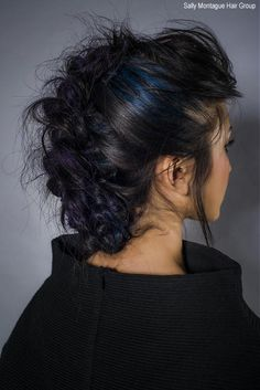 Making color pop on black hair is a challenge.  I like the purple and blue interwoven...gorgeous and somewhat subtle.