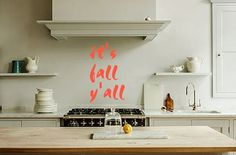 Get in the fall spirit with this fun wall decal! You can also put it on a chalkboard or mirror to use season after season!   *wall decals