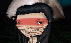 Ilustración, Aborigen de Rebeca Pascua aka Lokutremola