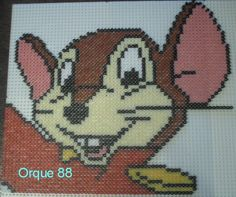 Disney Dumbo mouse hama perler by marmotte88130