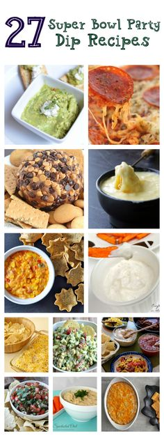 You can& have a Super Bowl party without dip, right? Well I& sharing 27 of the best dip recipes ever to choose from! Find a little bit of everything here! There& even healthier options and totally tasty dessert dips! Best Dip Recipes, Party Dip Recipes, Party Dips, Great Recipes, Favorite Recipes, Snacks Recipes, Delicious Recipes, Recipies, Yummy Appetizers