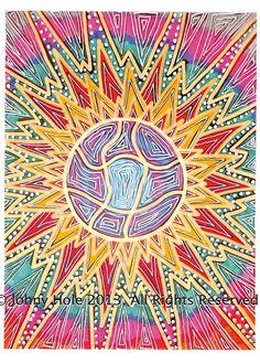 AFFORDABLE ART PRINTS mandala Sun Series pink by JohnyAndChloe, $16.30