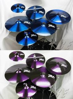 Royal blue or rich purple drumkit #Cymbals #Crashes