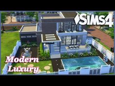 (3) The Sims 4 - Modern Luxury (Speed Build) - YouTube