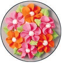 How to make drop flowers from icing for decorating cakes and cookies.