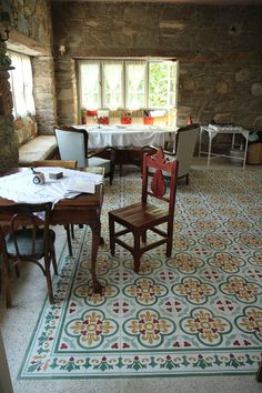 A rug made with beautiful cement tile. Nisanyan House Hotel: Our Best Hotel Stay in Turkey Hotel Tour | Apartment Therapy