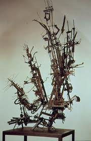 Robert Klippel Metal Art Sculpture, Abstract Sculpture, The Ostrich, Modern Artists, Australian Artists, Metal Crafts, Machine Parts, Ceiling Lights, Contemporary