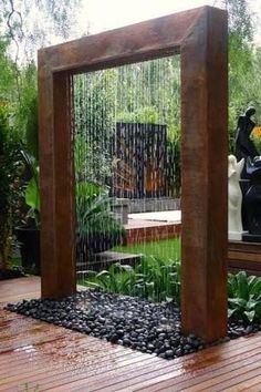 Diy Waterfall Water Feature How To Build A Glass Waterfall For Your Backyard Pro… – Modern Design - Modern Small Backyard Gardens, Small Backyard Landscaping, Landscaping Ideas, Backyard Ideas, Garden Ideas, Easy Garden, Garden Art, Patio Ideas, Backyard Projects