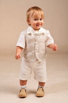 Baby boy ring bearer outfit boy baptism linen suit first birthday natural clothes rustic wedding beach family photos formal SET of 4 summer Baby Boy Baptism Outfit, Baby Boy Dress, Baby Boy Outfits, Baptism Clothes, Boys Party Wear, Birthday Party Outfits, 1st Boy Birthday, Boys Linen Suit, Baby Dress Clothes