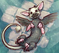 trico the last guardian Fantasy Creatures, Mythical Creatures, Beast Creature, Shadow Of The Colossus, Fantastic Beasts, The Guardian, Spirit Animal, Cute Art, Manga