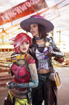 Nice trick, lady by Harusame-chan a Borderland's cosplay Cosplay Anime, Epic Cosplay, Cute Cosplay, Amazing Cosplay, Cosplay Outfits, Cosplay Girls, Cosplay Costumes, Lilith Borderlands, Borderlands Cosplay
