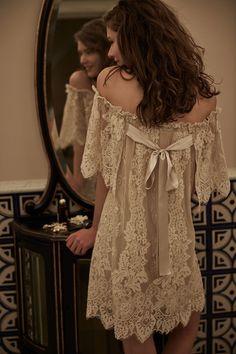 BHLDN lace wedding dress // honeymoon attire