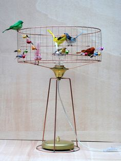 lampe poser cage oiseaux voli re de mathieu challi res luminaires tendance pinterest. Black Bedroom Furniture Sets. Home Design Ideas