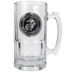 c4cb1a36a4d United States Marines 1 Liter Heavy Duty Glass Macho Beer Mug Us Army