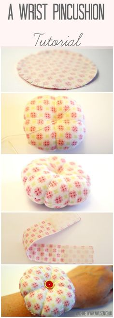 How to make a pincushion like Angeline's from The Great British Sewing Bee! Step by step instructions with pictures. Tea and a Sewing Machine www.awilson.co.uk