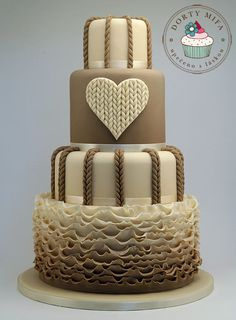 Knitted Wedding Cake - I would have this in the wedding colour