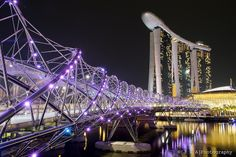 Marina Bay Sands Hotel + Helix Bridge: I was lucky enough to spend a few days in Singapore recently - Quite a city!