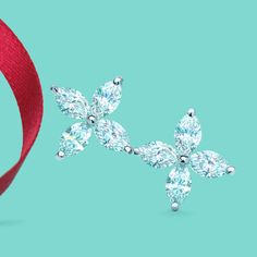 Tiffany Victoria™ earrings in platinum with marquise diamonds. #TiffanyPinterest crazy beautiful!