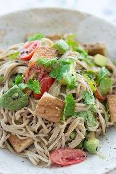 40% fewer calories than wheat noodles—and they taste great! Try vitamin-rich Soba noodles in this salad.