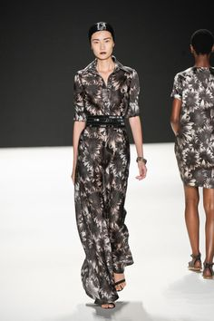 Note to self: Make an awesome shirt/dress maxi dress inspired by  Naeem Khan Spring 2013