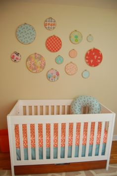 Embroidery hoop nursery decor (just add fabric!)...love this!