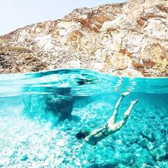 holiday dreaming of clear blue oceans in Ios, Greece☀️ @haylsa