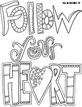 Follow Your Heart - a whole bunch of coloring pages (this one has the real link!)
