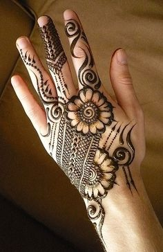 10 Best Back Hand Mehndi Designs