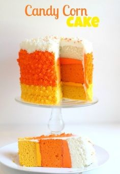 Candy Corn Cake#Repin By:Pinterest++ for iPad#