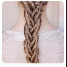 fish tail braid! I need someone with long hair to practice on!