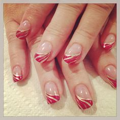 Fancy French – home acssesories French Nails, French Manicure Nails, Pink Tip Nails, Red Nails, French Tip Nail Designs, Nail Polish Designs, Pearl Nails, New Nail Art, Super Nails