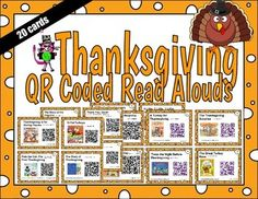 Updated 10/20/15What student doesn't love to scan QR codes? Incorporate technology as part of your daily 5 activities and the students will love it! Each QR code links to a video of a November themed read aloud that is on youtube, but they open in an ad free environment.