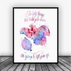Dumbo Quote Watercolor Art Print Poster. Disney Print For Home Decoration, Nursery and Kids Room Decor.