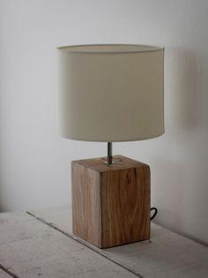 Reclaimed Elm Table Light - 46cm Interior Table Lamp