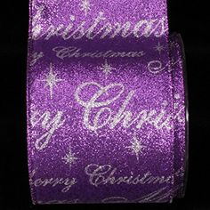 Beautiful Shimmering Purple And Silver Christmas Wired Craft Ribbon 4 x 20 Yards * Check this awesome product by going to the link at the image.