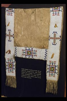 Northern Cheyenne Saddle Blanket