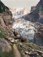 Glacier and B&aumlregg Inn, Grindelwald, Bernese Oberland, Switzerland