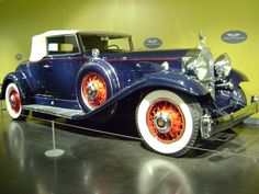 1932 Packard 903 Super Eight Roadster Coupe. Photo taken at LeMay Museum in Tacoma, WA., USA.