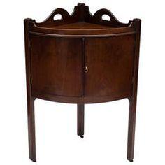George III Mahogany Corner Two-Door Pot Cupboard