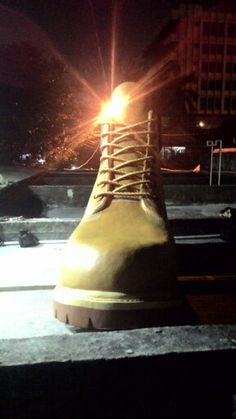 Giant Yellow Shoes
